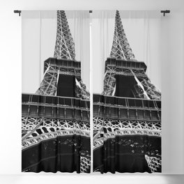 Eiffel Tower // Looking up at the World's Most Famous Monument in Paris France Classic Photograph Blackout Curtain