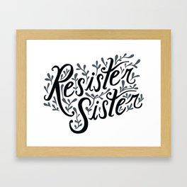 Resister Sister Framed Art Print