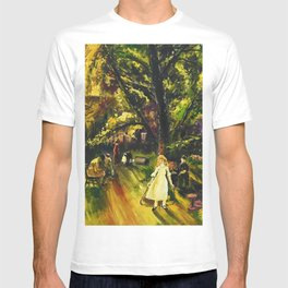 Sunday in Gramercy Park, NYC landscape painting by George Wesley Bellows T-shirt