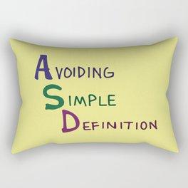 ASD Acronym Rectangular Pillow