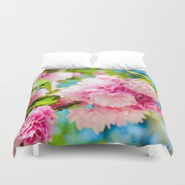 Pink Coated Blues Duvet Cover