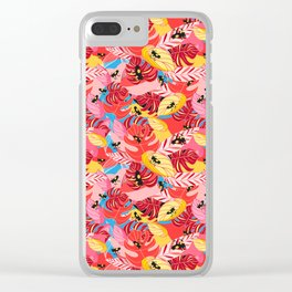 Beautiful illustration of a jungle with the frogs Clear iPhone Case