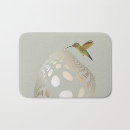 Hummingbird and Bubble Bath Mat