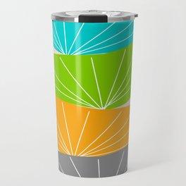 Mid-Century Modern Seed Pod Art Travel Mug