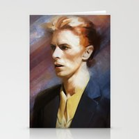 bowie Stationery Cards featuring Bowie by Cristina Sandia