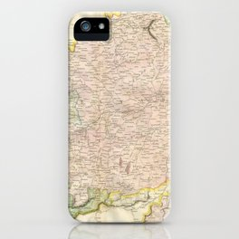 Vintage Map of Bavaria Germany (1814) iPhone Case