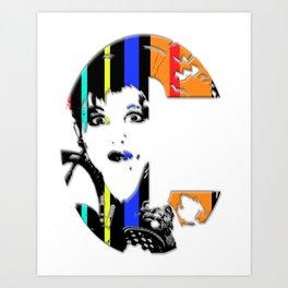 C Is For Cyndi Lauper Art Print