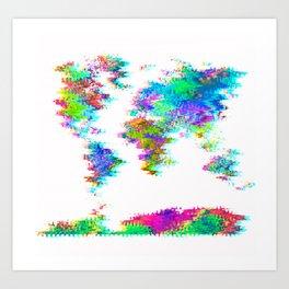 Glitch World Art Print