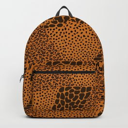 Mixed Animal Print In Color Backpack