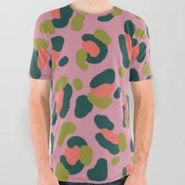 Pink Leopard All Over Graphic Tee