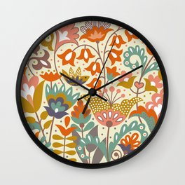 Forest flowers Wall Clock