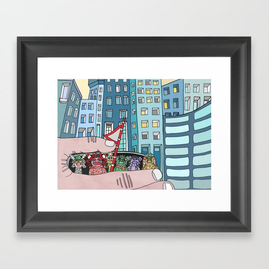 Curious Creatures 5 Framed Art Print