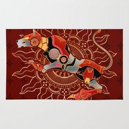 Red Lion Batik Rug