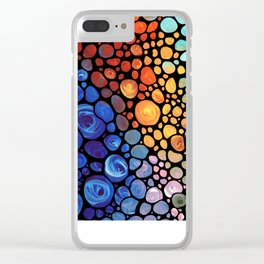 Abstract 1 - Beautiful Colorful Mosaic Art by Sharon Cummings Clear iPhone Case
