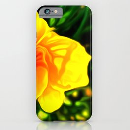 Painted Day Lilly - Yellow iPhone Case