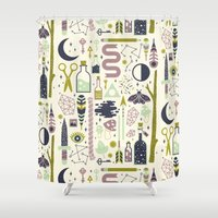 occult Shower Curtains featuring The Witch's Collection by LordofMasks