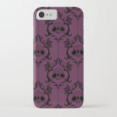 Halloween Damask - Violet iPhone 7 Slim Case