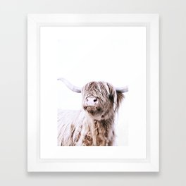 HIGHLAND CATTLE PORTRAIT Framed Art Print