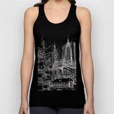 New York B&W (Dark T-shirt Version) Unisex Tank Top