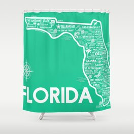 Florida Map Shower Curtain