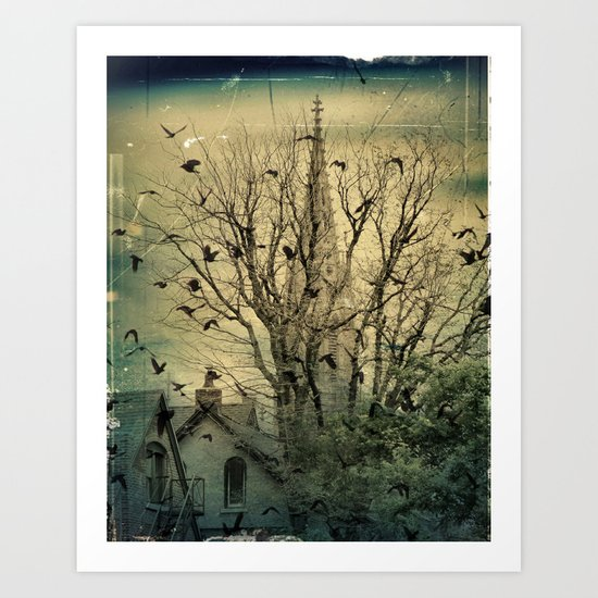 Urban Crows Art Print