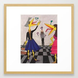 """Ladies Who Lunch"" Framed Art Print"