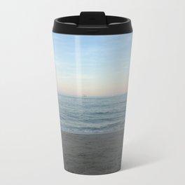 New England Beach Metal Travel Mug
