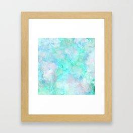 Irridescent Aqua Marble Framed Art Print