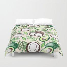 Coconuts & Avocados Duvet Cover