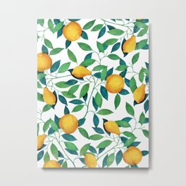 Lemon pattern II Metal Print