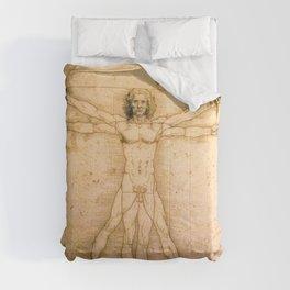Vitruvian Man by Leonardo da Vinci Comforters