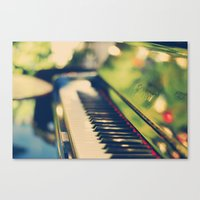 piano Canvas Prints featuring piano by Kristina Strasunske