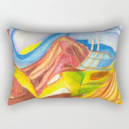 climb the mountain. the view is better up there Rectangular Pillow