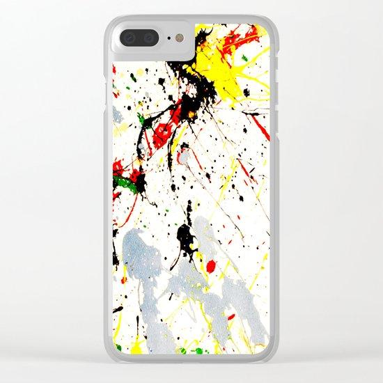 Paint Splatter Clear iPhone Case