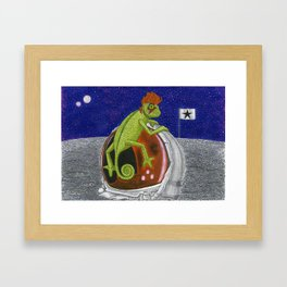 Major Chameleon Tom Framed Art Print