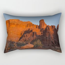 Sunset in Fisher Towers, Moab, Utah Rectangular Pillow