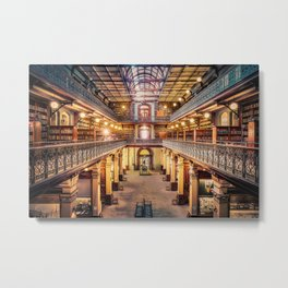 Let Us Retire To The Library Metal Print