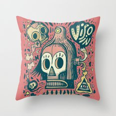 Vision étrange Throw Pillow