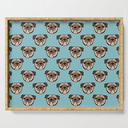 Pug Faces Serving Tray