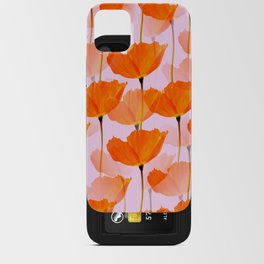 Orange Poppies On A Pink Background #decor #society6 #buyart iPhone Card Case