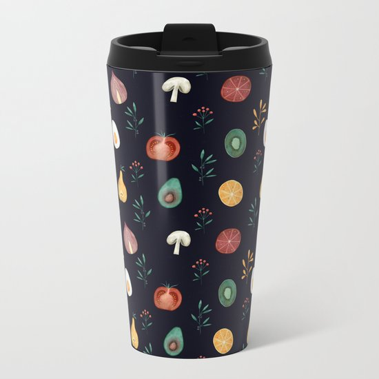 Vegetables pattern Metal Travel Mug