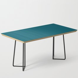 Sherwin Williams Trending Colors of 2019 Oceanside (Dark Aqua Blue) SW 6496 Solid Color Coffee Table