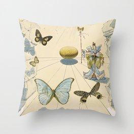 Poster-Salvador Dali-Allegorie de soie. Throw Pillow