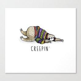 Sloth creepin' Canvas Print