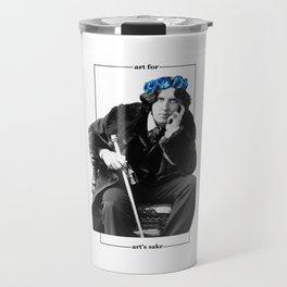 Art for art's sake - Oscar Wilde Travel Mug