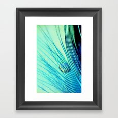 Feather And Water Blue Framed Art Print