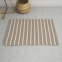 Retro-Delight - Continuous Chains (Oval) - Frost Rug