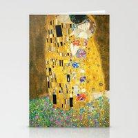 gustav klimt Stationery Cards featuring Gustav Klimt The Kiss by Art Gallery