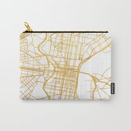 PHILADELPHIA PENNSYLVANIA CITY STREET MAP ART Carry-All Pouch