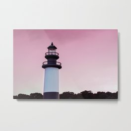 Cotton Candy Lighthouse Metal Print
